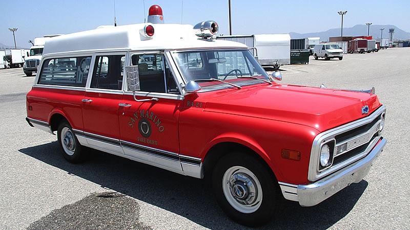 1969 Chevy Suburban Ambulance - Vintage Emergency Vehicles