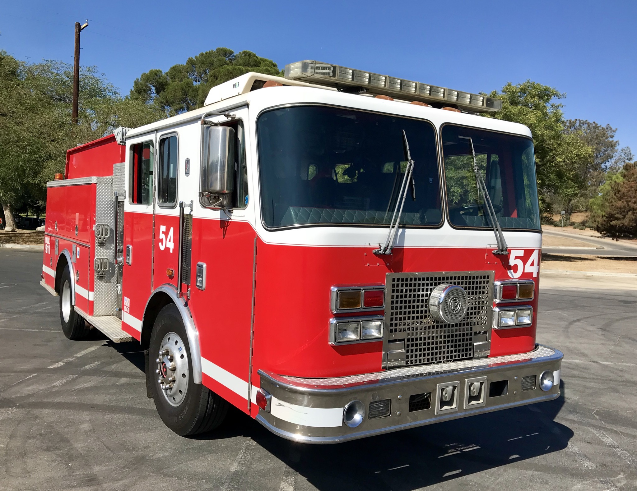 1996 KME Fire Engine Front